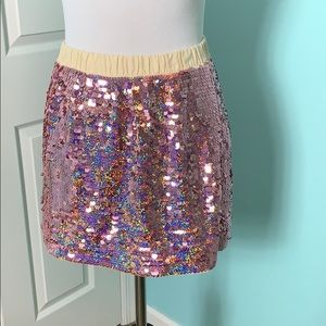 J. Crew Crewcuts Pink Sequin Skirt Size 10